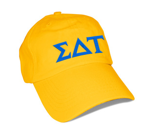 Sigma Delta Tau Greek Letter Hat