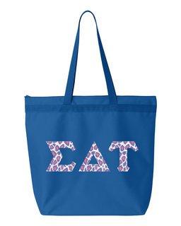 Sigma Delta Tau Greek Letter Liberty Bag