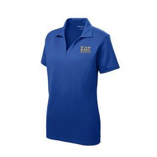 Sigma Delta Tau Greek Letter Polo Shirts