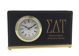 Sigma Delta Tau Horizontal Desk Clock