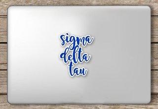 Sigma Delta Tau Script Sticker