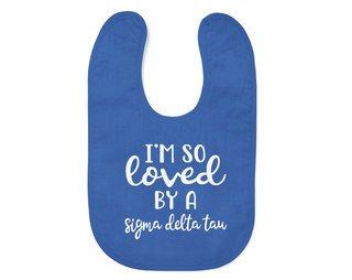 Sigma Delta Tau I'm So Loved Baby Bib