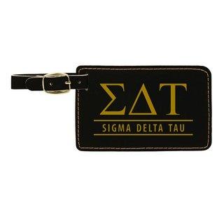Sigma Delta Tau Leatherette Luggage Tag