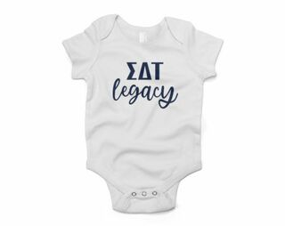 Sigma Delta Tau Legacy Baby Outfit Onesie