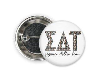 Sigma Delta Tau Leopard Button