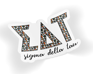 Sigma Delta Tau Leopard Sticker