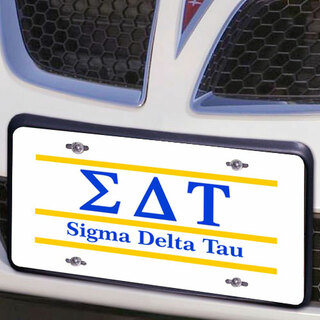 Sigma Delta Tau Lettered Lines License Cover