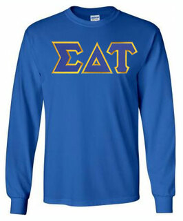 Sigma Delta Tau Lettered Long Sleeve Tee- MADE FAST!