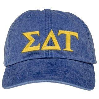 Sigma Delta Tau Lettered Premium Pastel Hat