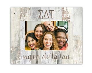 Sigma Delta Tau Letters Barnwood Picture Frame