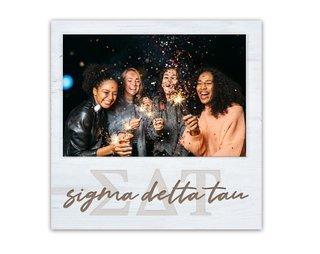 Sigma Delta Tau Letters Script Block Picture Frame