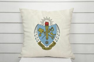 Sigma Delta Tau Linen Crest - Shield Pillow