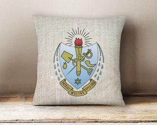 Sigma Delta Tau Linen Crest - Shield Pillow