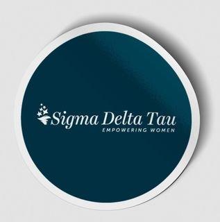 Sigma Delta Tau Logo Round Decal