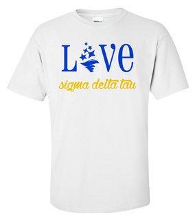 Sigma Delta Tau Love Mascot T-Shirt