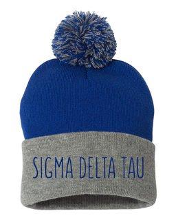 Sigma Delta Tau Mod Pom Pom Beanie