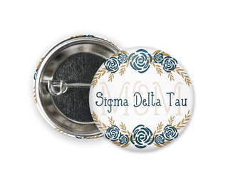 Sigma Delta Tau Mom Floral Button