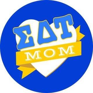Sigma Delta Tau Mom Round Decals