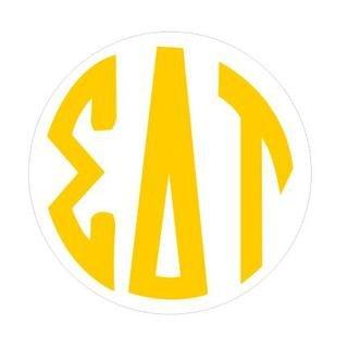 Sigma Delta Tau Monogram Decal