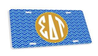 Sigma Delta Tau Monogram License Plate
