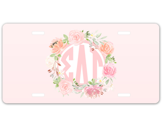 Sigma Delta Tau Monogram License Plate
