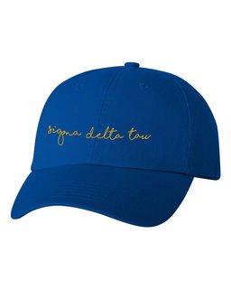 Sigma Delta Tau Smiling Script Greek Hat