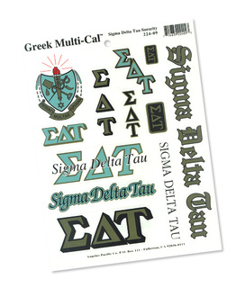 Sigma Delta Tau Multi Greek Decal Sheet