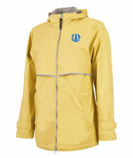 Sigma Delta Tau New Englander Circle Monogram Rain Coat