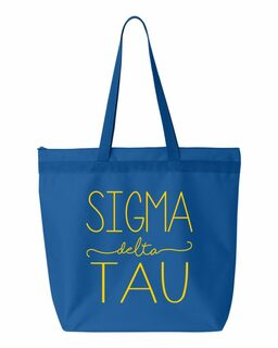Sigma Delta Tau New Handwriting Tote Bag
