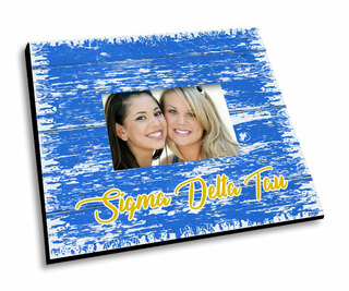 Sigma Delta Tau Painted Fence Picture Frame