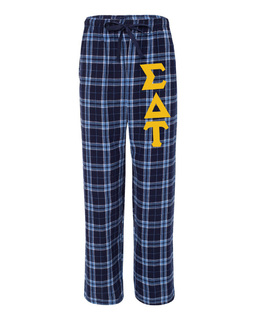 Sigma Delta Tau Pajamas -  Flannel Plaid Pant