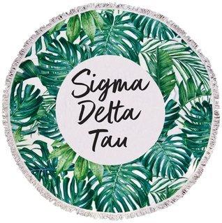 Sigma Delta Tau Palm Leaf Fringe Towel Blanket