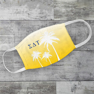 Sigma Delta Tau Palm Trees Face Mask