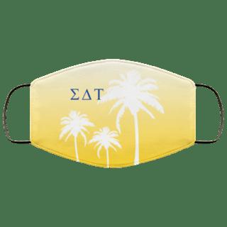 Sigma Delta Tau Palm Trees Face Mask