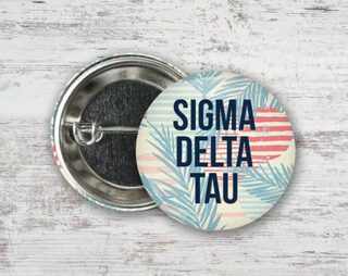 Sigma Delta Tau Paradise Found Button