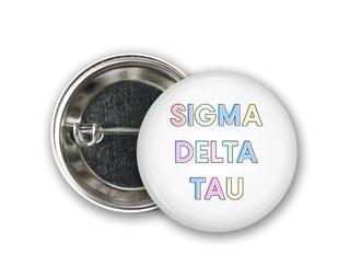 Sigma Delta Tau Pastel Letter Button