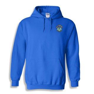 DISCOUNT-Sigma Delta Tau Crest - Shield Emblem Hooded Sweatshirt