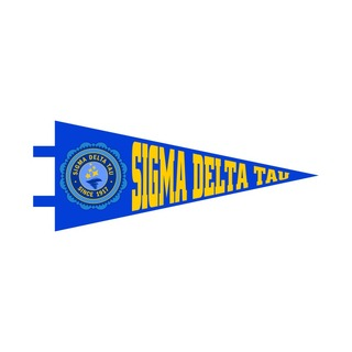 "Sigma Delta Tau Pennant Decal 4"" Wide"