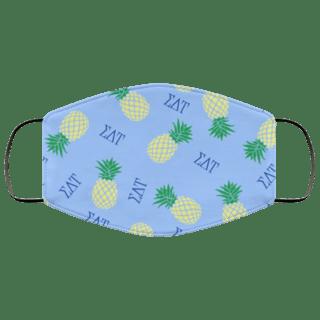 Sigma Delta Tau Pineapples Face Mask
