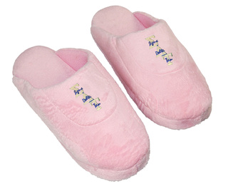 DISCOUNT-Sigma Delta Tau Pink Solid Letter Slipper