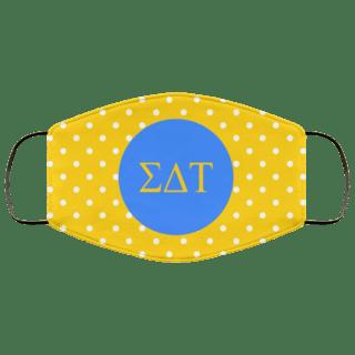 Sigma Delta Tau Polka Dots Face Mask