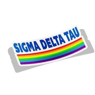 Sigma Delta Tau Prism Decal Sticker
