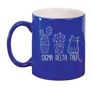 Sigma Delta Tau Purrrfect Sorority Coffee Mug