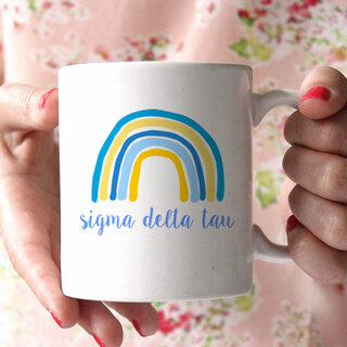 Sigma Delta Tau Rainbow Coffee Mug
