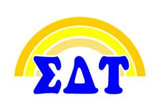 Sigma Delta Tau Rainbow Decals
