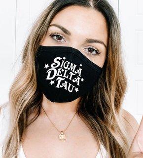 Sigma Delta Tau Star Struck Face Mask