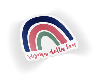 Sigma Delta Tau Rainbow Sticker