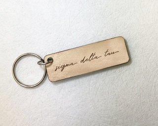 Sigma Delta Tau Rectangle Script Keychain