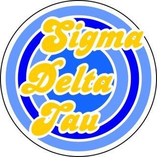 Sigma Delta Tau Retro Round Decals