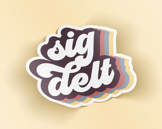 Sigma Delta Tau Retro Sticker